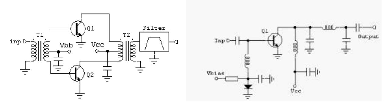 Двухтактна и однотактная схемы класса В